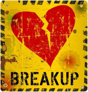 breakup warning sign, Love concept, vector illustration