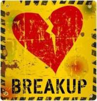 breakup warning sign, Love concept, vector illustration